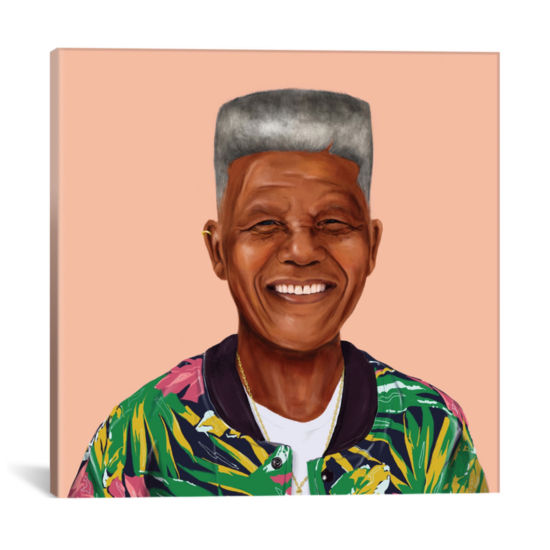 Icanvas Nelson Mandela Canvas Art