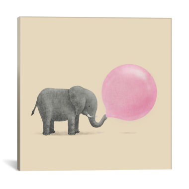 Icanvas Jumbo Bubble Gum Square Canvas Art