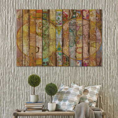Icanvas Around The World In Thirteen Maps Canvas Art