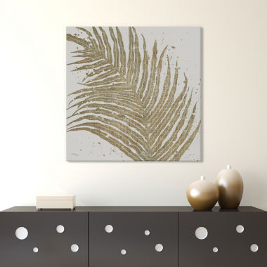Icanvas Gold Leaves I Canvas Art