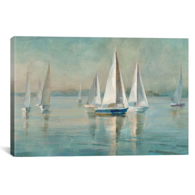 Icanvas Sailboats At Sunrise Canvas Art