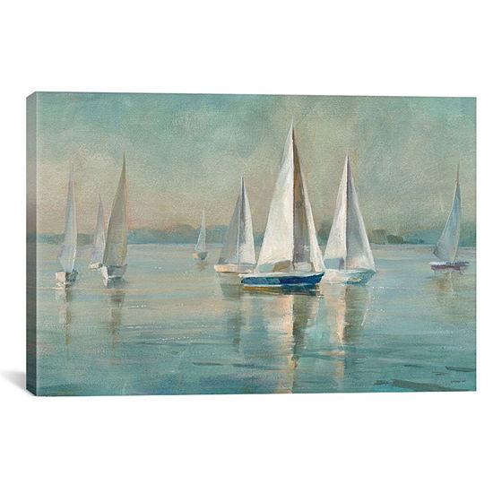 Icanvas Sailboats At Sunrise Canvas Art