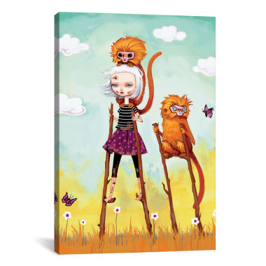 Icanvas Girl On An Adventure Canvas Art