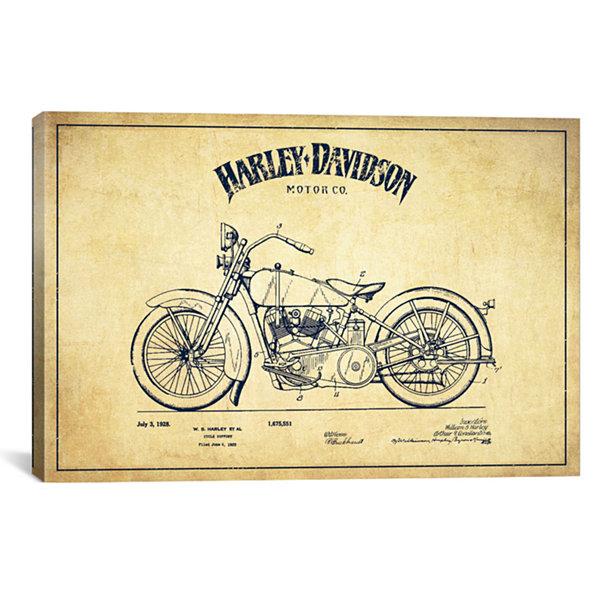 Icanvas harley davidson vintage patent blueprint canvas art jcpenney icanvas harley davidson vintage patent blueprint canvas art malvernweather Images