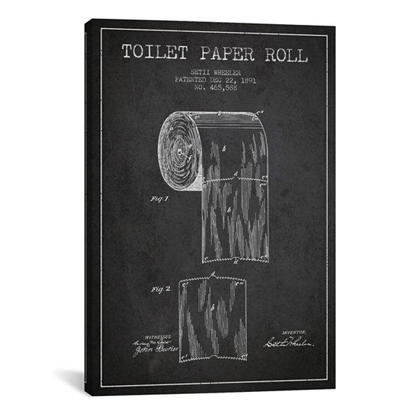 Icanvas toilet paper charcoal patent blueprint canvas art jcpenney icanvas toilet paper charcoal patent blueprint canvas art malvernweather Images