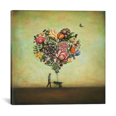 Icanvas Big Heart Botany Canvas Art