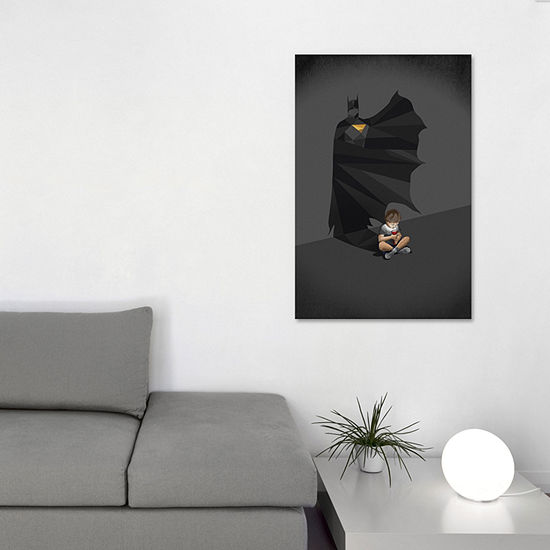 Icanvas Walking Shadow Hero Ii Canvas Art