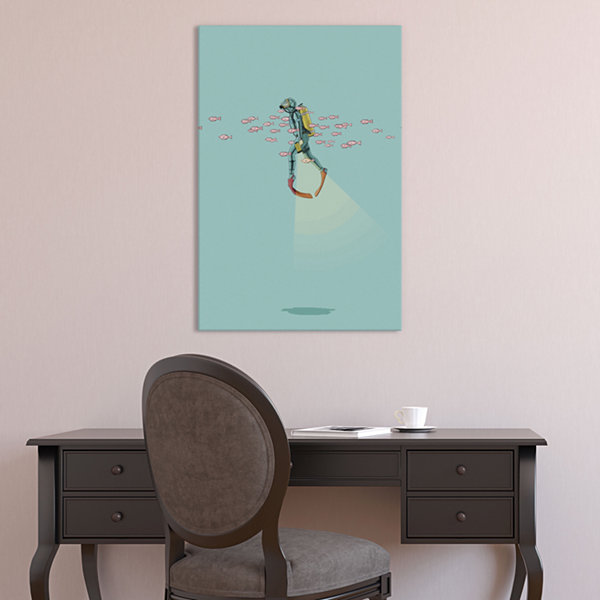 Icanvas Float Under The Sea Canvas Art