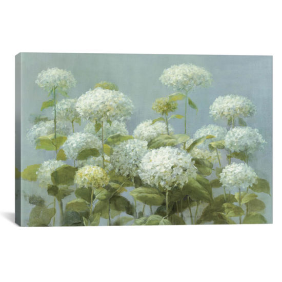 Icanvas White Hydrangea Garden Canvas Art