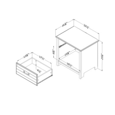 Ullysses 1-Drawer Nightstand