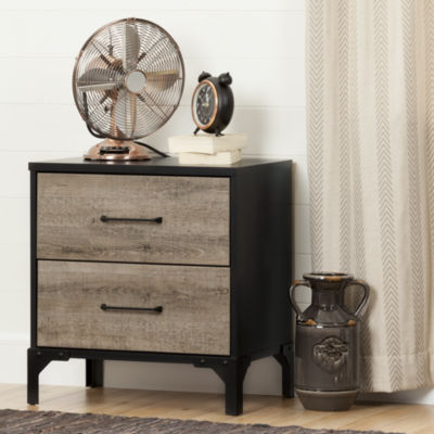 Valet 2-Drawer Nightstand