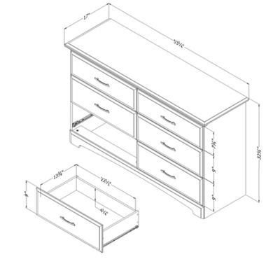 Callesto 6-Drawer Dresser
