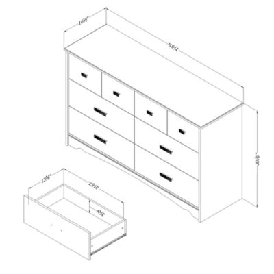 Tiara 6-Drawer Dresser