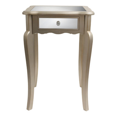 Decor Therapy Mirrored Mirrored End Table