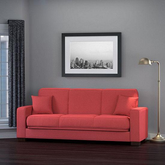 Malibu Squared Arm Convert A Couch