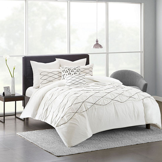 Urban Habitat Bellina Cotton Percale 7-pc. Duvet Cover Set