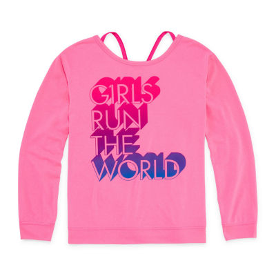 Xersion Long Sleeve Performance Top with Headband - Girls' Sizes 4-16 and Plus