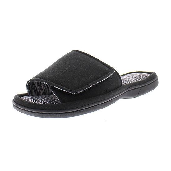 Gold Toe Hook and Loop Fastener Slip-On Slippers
