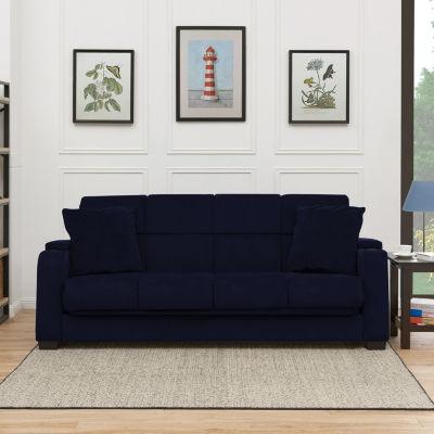 Sadie Storage-Arm Velvet Convert-a-Couch®