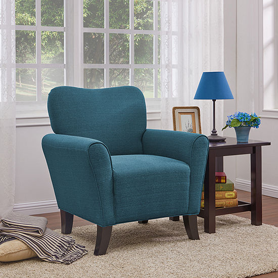 Awesome June Caribbean Blue Accent Chair Ibusinesslaw Wood Chair Design Ideas Ibusinesslaworg