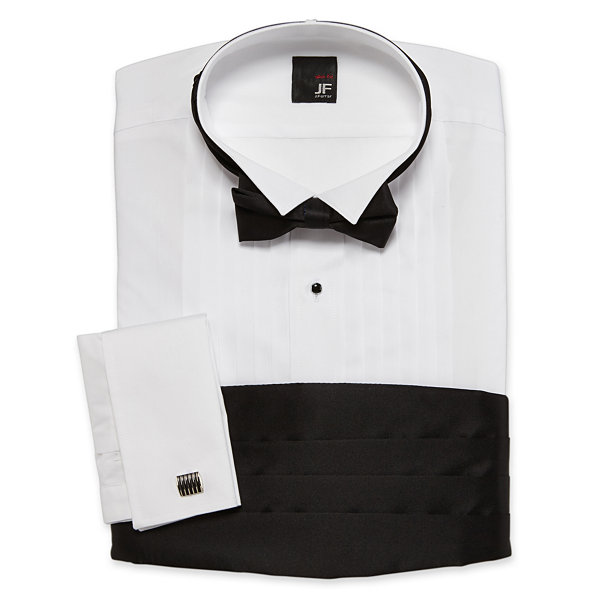 JF J. Ferrar® Tuxedo Shirt Set–Big & Tall