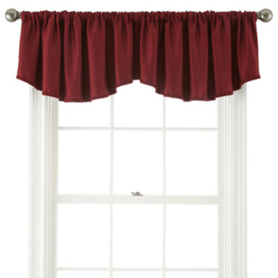 JCPenney Home Supreme Rod-Pocket Ascot Valance