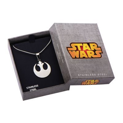 Star Wars® Rebel Symbol Mens Stainless Steel Pendant Necklace
