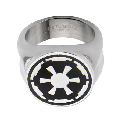 Star Wars® Imperial Symbol Mens Stainless Steel Ring