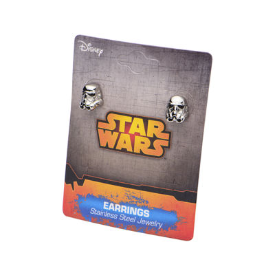 Star Wars® Stormtrooper Stainless Steel Earrings