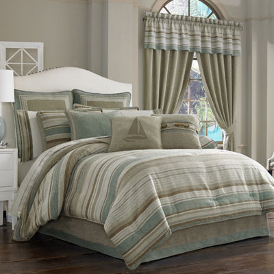 Queen Street Nantucket 4-pc. Jacquard Chenille Comforter Set