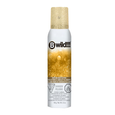 Jerome Russell Bwild Temp'ry Gold Glitter Hair and Body Spray - 3.5 oz.