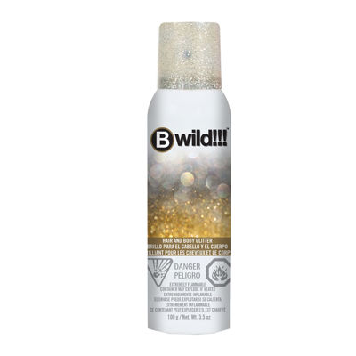 Jerome Russell Bwild Temp'ry Gold/Silver Glitter Hair and Body Spray - 3.5 oz.