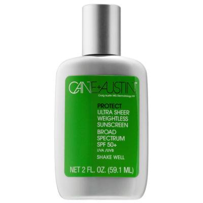 Cane + Austin Protect Ultra Sheer Weightless Sunscreen Broad Spectrum SPF 50+ UVA/UVB