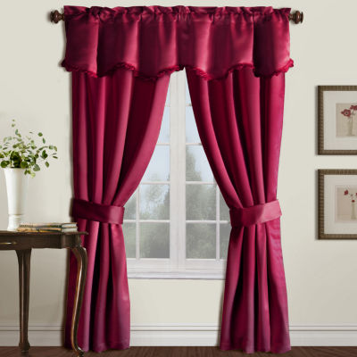 United Curtain Co. Burlington 5-Pc Blackout Rod-Pocket Curtain Set