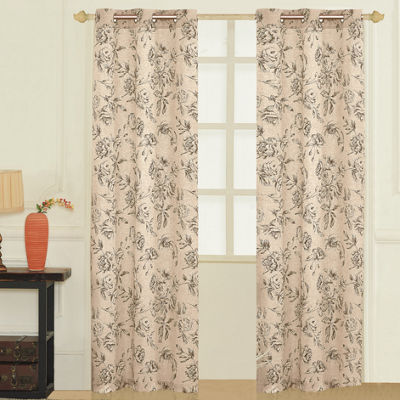 United Curtain Co. Fiona Grommet-Top 2-Pack Curtain Panels