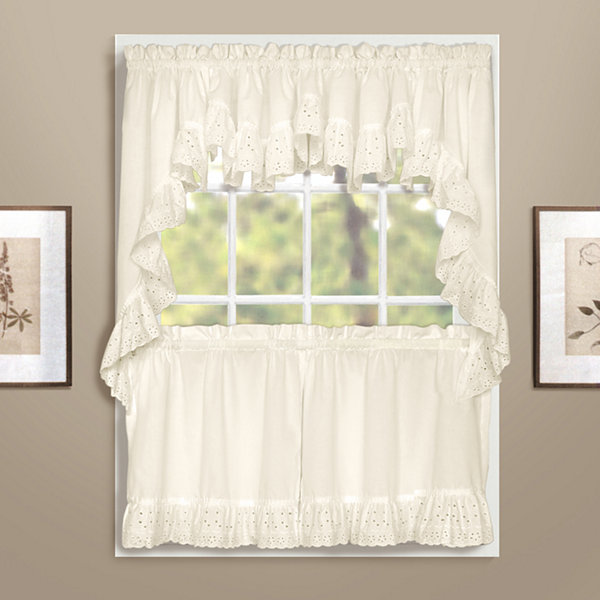United Curtain Co. Vienna Rod-Pocket Double Crescent Valance
