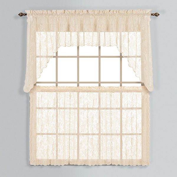 United Curtain Co. Windsor Rod-Pocket Window Tiers