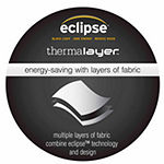 Eclipse Arno Blackout Grommet-Top Single Curtain Panel