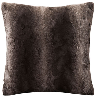 Madison Park Zuri Faux Fur Square Throw Pillow