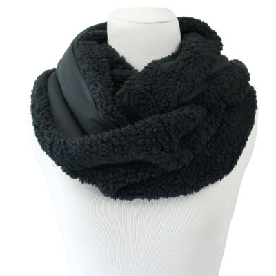 Cuddl Duds Plush Faux Fur to Stretch Fleece Reversible Infinity Scarf Super Cozy and Ultra Soft
