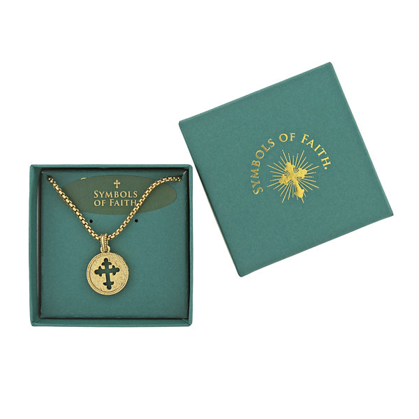 1928 Symbols Of Faith Religious Jewelry Womens Pendant Necklace