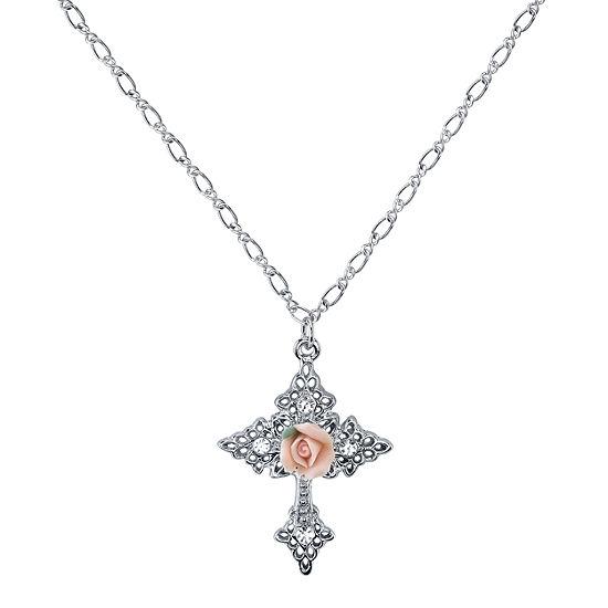 1928 Symbols Of Faith Religious Jewelry Womens Cross Pendant Necklace