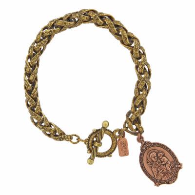 1928 Symbols Of Faith Religious Jewelry Womens Charm Bracelet