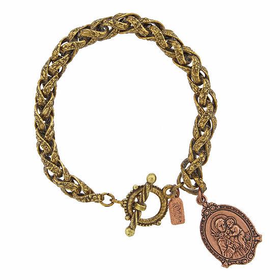 1928 Religious Jewelry Religious Jewelry 7.5 Inch Rope Charm Bracelet