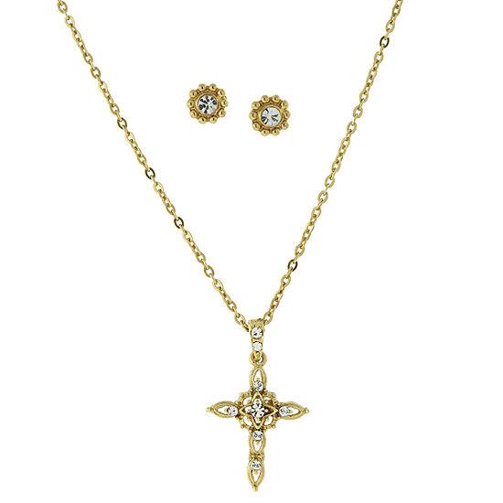 1928 Religious Jewelry Religious Jewelry 2-pc. Cross Jewelry Set
