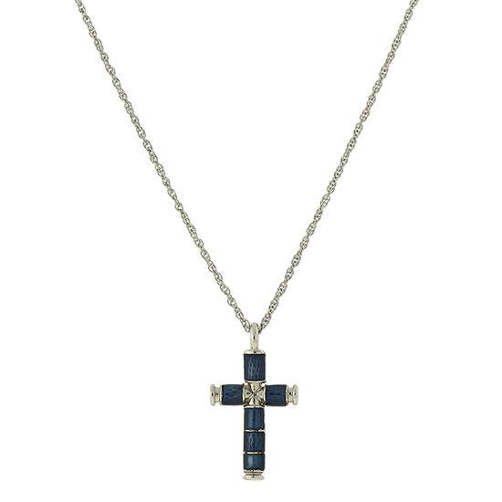 1928 Religious Jewelry Religious Jewelry 16 Inch Rope Cross Pendant Necklace
