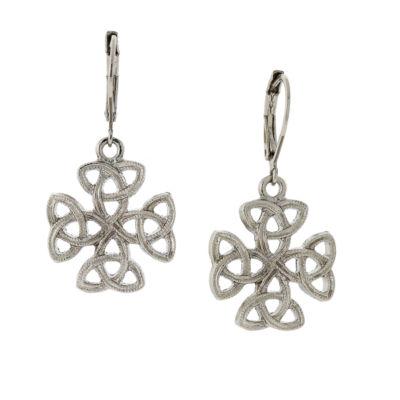 1928 Symbols Of Faith Religious Jewelry Cross Drop Earrings