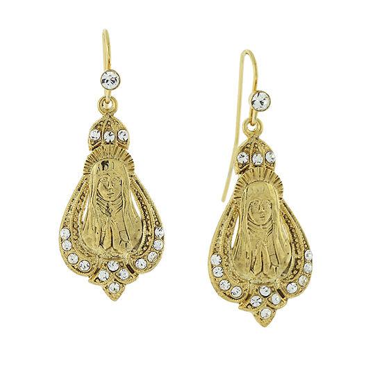1928 Religious Jewelry Religious Jewelry 1 Pair Drop Earrings
