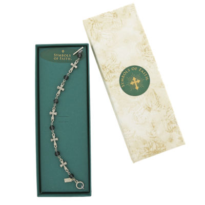 1928 Symbols Of Faith Religious Jewelry Womens 7 1/2 Inch Link Bracelet