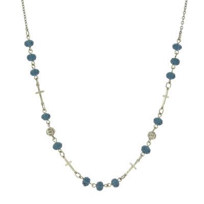 1928 Symbols Of Faith Religious Jewelry Womens Strand Necklace